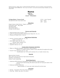 college resume examples for high seniors examples of