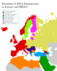 Map Of North Africa And Middle East by Dominant Y Dna Haplogroups In Europe Middle East U0026 North Africa
