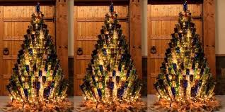 a brown christmas tree wine bottle christmas trees how to decorate your tree with wine