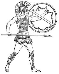 roman warriors clipart greek soldier pencil color roman