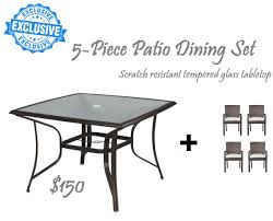 scratch resistant dining table exclusive 5 piece outdoor dining scratch resistant tempered glass