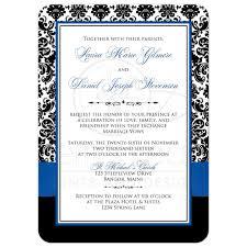 Royal Blue Wedding Invitations Photo Template Wedding Invitation Royal Blue White Black