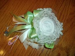 baby sock corsage grandmothers baby sock corsage handmade baby sock shower