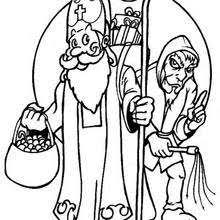 christmas elve saint nicholas coloring pages hellokids
