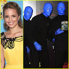 Blue Man Group Halloween Costume Blue Man Group Pulls Dianna Agron Stage Dianna Agron