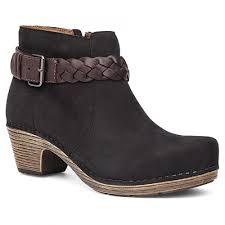 dansko s boots dansko ankle boots in black milled nubuck s boots
