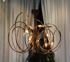Copper Chandeliers 3 Copper Brass Chandelier Town Country Event Rentals