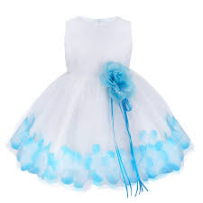 tiaobug baby flower petals tulle formal