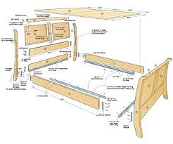 wood twin bed frame woodworking plans pdf plans