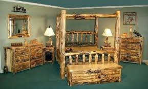 Wood Log Bed Frame Log Bed King Canalcafe Co