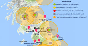 England On A World Map by Uk Map Of Where To Live To Avoid U0027nuclear Impact Zone U0027 Draws Backlash