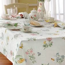 World Map Tablecloth by Lenox Tablecloths Butterfly Meadow Tablecloths