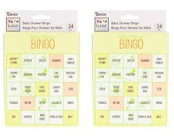 amazon com pack of 2 baby shower bingo game 48 total cards baby