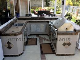 How To Build An Outdoor Kitchen Island by Outdoor Barbeque Islands Surrounding Elements Custom Outdoor