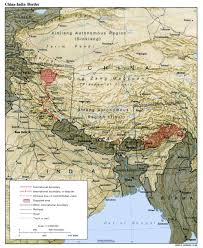 Map Of Pakistan And India by India China Border Dispute