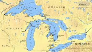 United States Map With Lakes And Rivers by Which States Border The Great Lakes Reference Com