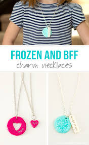necklace charm diy images Diy quot frozen quot and quot bff quot clay charm necklaces make it and love it jpg