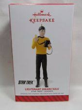 hallmark 2014 lieutenant hikaru sulu trek ornament ebay