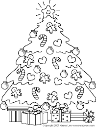 christmas tree coloring pages kids coloring pages
