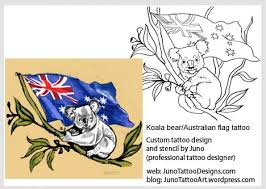 australian tattoos koala bears u0026 flag tattoos by juno