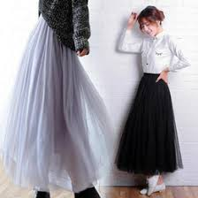 White Tulle Maxi Skirt Discount Korean Fashion Maxi Skirt 2017 Korean Fashion Maxi