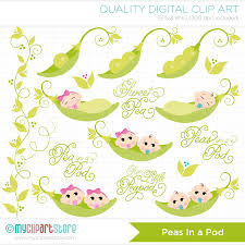 baby pea in a pod clipart 52