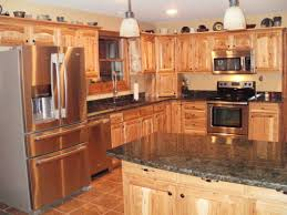 rustic hickory kitchen cabinets kitchen decoration
