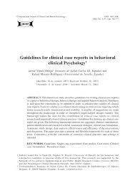 guidelines for clinical case reports in behavioral clinical