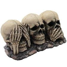 Home Decor Sculptures Strange Crate See No Evil Figurine For Scary Halloween