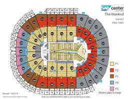 San Jose Convention Center Map by The Weeknd Sap Center
