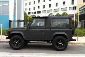 land rover matte matte gray black land rover defender 90 with black rims exotic