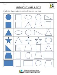 shape worksheets for kindergarten worksheets