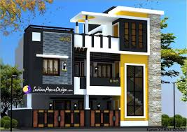 Modern Contemporary Style Two Floor Chennai Home Design by Ns Architect