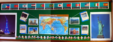 World Map Bulletin Board by June 2014 Rebe With A Clause