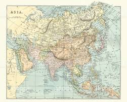 Map If Asia by Antique Map Of Asia In Late 19th Century Stock Vector Art