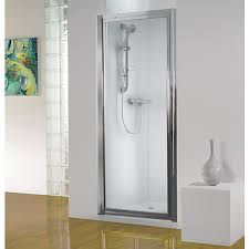 wickes pivot shower enclosure door silver effect frame 760mm