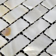 Wall Tiles For Kitchen Backsplash by White Mother Of Pearl Tile Seashell Tile Kitchen Backsplash