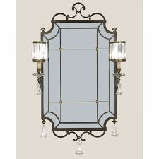 Fine Art Lighting Fixtures by Fine Art Lamps Eaton Place Two Light Mirror In Rustic Iron