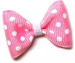 pink bows white dots on baby pink designer bows 4 legged