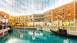 Venetian Hotel Map Time Lapse The Venetian Macau Lagoon Gondola Ride China Asia Stock