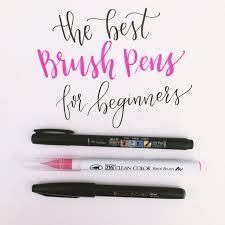 best 25 brush lettering pens ideas on pinterest brush pen