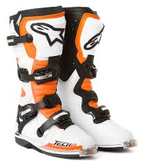 motocross boots alpinestars alpinestars mx boots tech 8 rs white orange black 2014 maciag