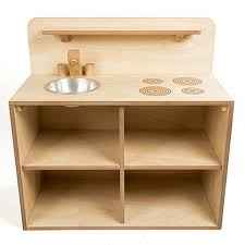 buy toddler wooden role play kitchen unit tts
