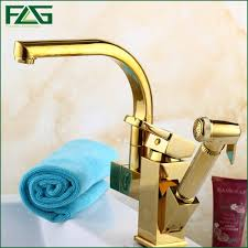 Discount Kitchen Faucets Pull Out Sprayer by Online Get Cheap Gold Kitchen Faucet Aliexpress Com Alibaba Group