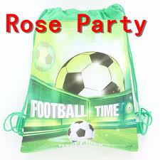 football decorations 10pcs lot sport boy favors soccer drawstring bags football