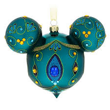 ornament mickey mouse icon blue peacock