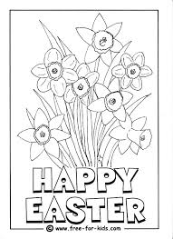 daffodils colouring picture holiday fun easter