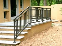 Handrail Banister Wrought Iron And Wood Exterior Front Porch Railing U2013 Deck Railing