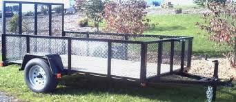 5 x 8 utility trailer with wire mesh sides