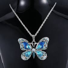 beautiful necklace photos images Crafty beautiful necklace rhinestone long butterfly necklaces jpg
